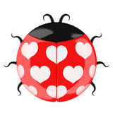 Cute lady bug. Stock Photos