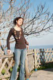 Cute lady in casual clothes Stock Photography