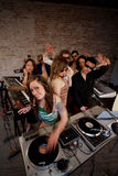 Cute lady DJ Stock Photography