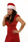 Cute lady santa Royalty Free Stock Images