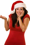 Cute lady santa Stock Image
