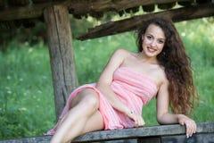 Cute lady wear a pretty summer dress Stock Photography