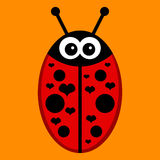 Cute ladybird Royalty Free Stock Images