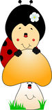 Cute ladybug cartoon Royalty Free Stock Images
