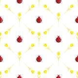 Cute ladybug cartoon Stock Photos