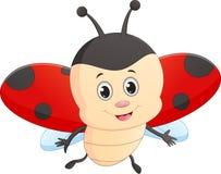 Cute ladybug cartoon Stock Photography
