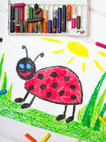 Cute ladybug with happy face Stock Photography