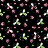 Cute Ladybug Seamless Pattern Background Vector Illustration Stock Photography