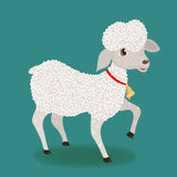 Cute lamb with bell Stock Photography