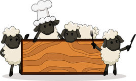 Cute lamb cooks Stock Photography