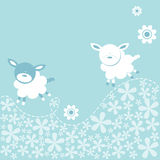 Happy Lambs Royalty Free Stock Photography