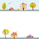 Cute Landscape Background Royalty Free Stock Photography