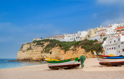 Cute landscape marine town of Carvoeiro. Royalty Free Stock Images