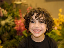 Cute Latin Boy Smiling Royalty Free Stock Photography