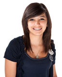 Cute Latina with Braces Royalty Free Stock Photography