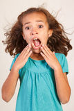 Cute Latina Girl. Alexis with shocked face Stock Photography