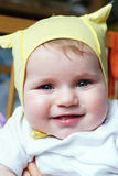 Cute laughing baby Royalty Free Stock Images