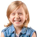 Cute laughing girl Stock Photos