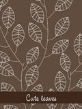 Cute leaves Stock Images
