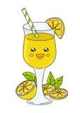 Cute lemonade  on white Royalty Free Stock Photo