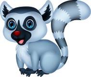 Cute lemur cartoon Stock Image