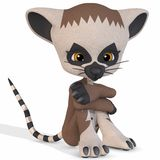 Cute Lemur - Toon Figure Stock Photo