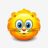 Cute leo emoticon, emoji - astrological sign - horoscope - zodiac - vector illustration Stock Photos