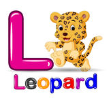 Cute leopard and alphabet. Illustration of Cute leopard and alphabet Royalty Free Stock Photography