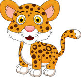 Cute leopard cartoon Stock Photography