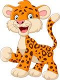 Cute leopard cartoon. Illustration of Cute leopard cartoon Stock Image