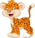 Cute leopard cartoon. Illustration of Cute leopard cartoon Stock Images