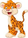 Cute leopard cartoon Stock Photography