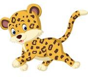 Cute leopard cartoon Stock Photos