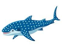 Cute leopard shark cartoon Stock Images