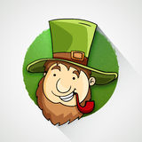 Cute leprechaun for Happy St. Patrick's Day celebration. Stock Image
