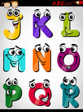 Cute letters alphabet cartoon illustration Stock Photos