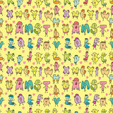 Cute letters seamless pattern Stock Images