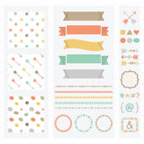Cute light color design elements set Stock Images