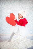 Cute liitle girl Stock Photography