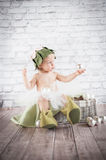 Cute liitle gnome Royalty Free Stock Photos