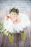 Cute liitle gnome. With funny hat Royalty Free Stock Photo