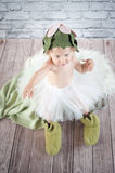Cute liitle gnome. With funny hat Royalty Free Stock Photos