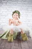 Cute liitle gnome. With funny hat Royalty Free Stock Photography