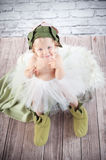 Cute liitle gnome. With funny hat Royalty Free Stock Images