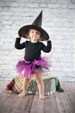 Cute liitle witch Royalty Free Stock Image