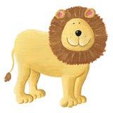 Cute Lion. Acrylic illustration of cute Lion Stock Photo