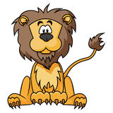 Cute Lion. Cartoon illustration of Lion isolated on white Royalty Free Stock Photos