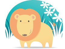 Cute Lion. Illustration cartoon of Cute Lion Royalty Free Stock Images