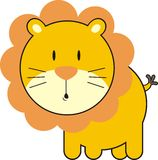 Cute lion. Isolated baby lion, individual objects very easy to edit Royalty Free Stock Images