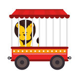 Cute lion animal circus. Illustration design Royalty Free Stock Photo